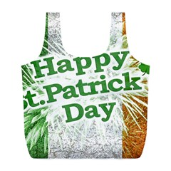 Happy St. Patricks Day Grunge Style Design Reusable Bag (L)