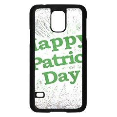 Happy St. Patricks Day Grunge Style Design Samsung Galaxy S5 Case (Black)