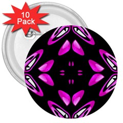 Abstract Pain Frustration 3  Button (10 Pack)