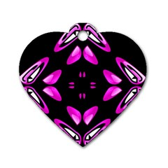 Abstract Pain Frustration Dog Tag Heart (one Sided)