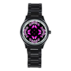 Abstract Pain Frustration Sport Metal Watch (Black)