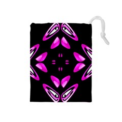 Abstract Pain Frustration Drawstring Pouch (Medium)