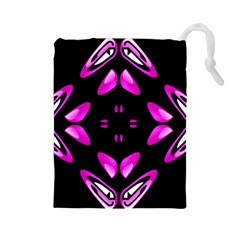 Abstract Pain Frustration Drawstring Pouch (Large)