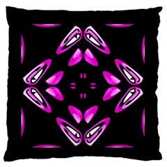 Abstract Pain Frustration Large Flano Cushion Case (two Sides)