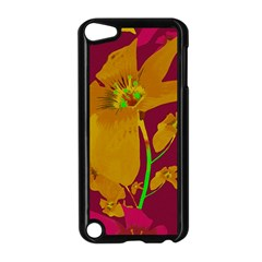 Tropical Hawaiian Style Lilies Collage Apple Ipod Touch 5 Case (black)