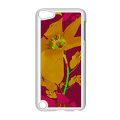 Tropical Hawaiian Style Lilies Collage Apple iPod Touch 5 Case (White)