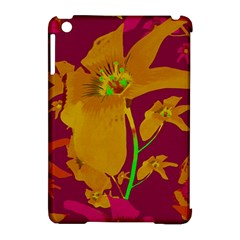 Tropical Hawaiian Style Lilies Collage Apple Ipad Mini Hardshell Case (compatible With Smart Cover)