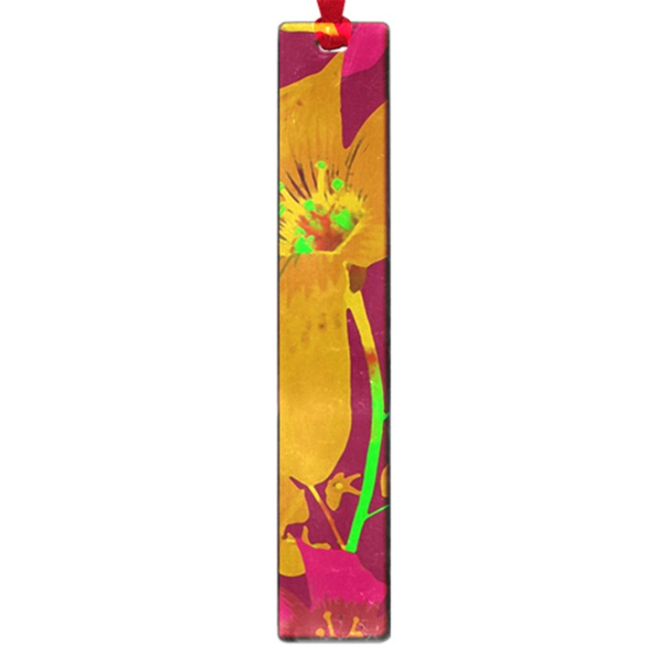 Tropical Hawaiian Style Lilies Collage Large Bookmark
