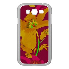 Tropical Hawaiian Style Lilies Collage Samsung Galaxy Grand DUOS I9082 Case (White)