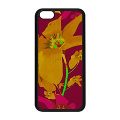 Tropical Hawaiian Style Lilies Collage Apple iPhone 5C Seamless Case (Black)
