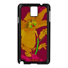 Tropical Hawaiian Style Lilies Collage Samsung Galaxy Note 3 N9005 Case (black)