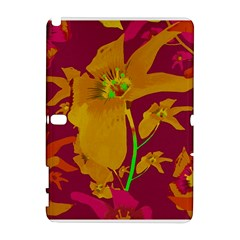 Tropical Hawaiian Style Lilies Collage Samsung Galaxy Note 10.1 (P600) Hardshell Case