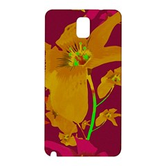 Tropical Hawaiian Style Lilies Collage Samsung Galaxy Note 3 N9005 Hardshell Back Case