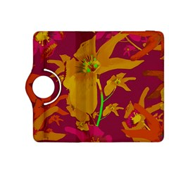 Tropical Hawaiian Style Lilies Collage Kindle Fire HDX 8.9  Flip 360 Case