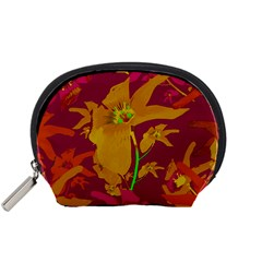 Tropical Hawaiian Style Lilies Collage Accessory Pouch (small)