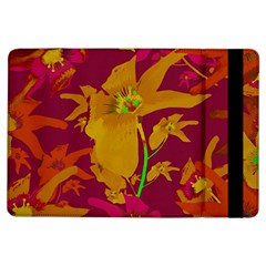 Tropical Hawaiian Style Lilies Collage Apple iPad Air Flip Case