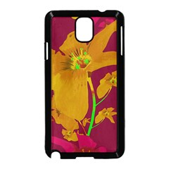 Tropical Hawaiian Style Lilies Collage Samsung Galaxy Note 3 Neo Hardshell Case (Black)