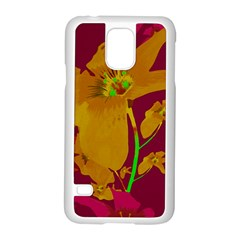 Tropical Hawaiian Style Lilies Collage Samsung Galaxy S5 Case (white)