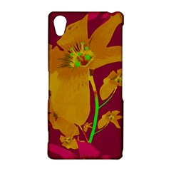 Tropical Hawaiian Style Lilies Collage Sony Xperia Z2 Hardshell Case