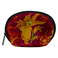 Tropical Hawaiian Style Lilies Collage Accessory Pouch (Medium)