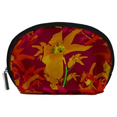 Tropical Hawaiian Style Lilies Collage Accessory Pouch (large)