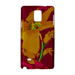 Tropical Hawaiian Style Lilies Collage Samsung Galaxy Note 4 Hardshell Case