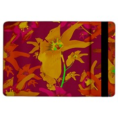Tropical Hawaiian Style Lilies Collage Apple iPad Air 2 Flip Case
