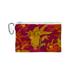 Tropical Hawaiian Style Lilies Collage Canvas Cosmetic Bag (small)