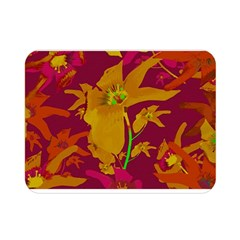 Tropical Hawaiian Style Lilies Collage Double Sided Flano Blanket (Mini)
