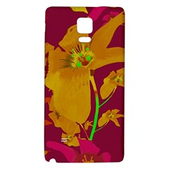 Tropical Hawaiian Style Lilies Collage Samsung Note 4 Hardshell Back Case