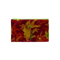 Tropical Hawaiian Style Lilies Collage Cosmetic Bag (XS)