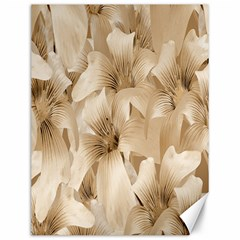 Elegant Floral Pattern in Light Beige Tones Canvas 12  x 16  (Unframed)