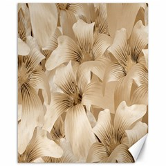 Elegant Floral Pattern In Light Beige Tones Canvas 16  X 20  (unframed)