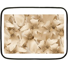 Elegant Floral Pattern In Light Beige Tones Mini Fleece Blanket (two Sided)