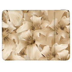 Elegant Floral Pattern in Light Beige Tones Samsung Galaxy Tab 7  P1000 Flip Case