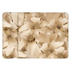 Elegant Floral Pattern in Light Beige Tones Samsung Galaxy Tab 8.9  P7300 Flip Case
