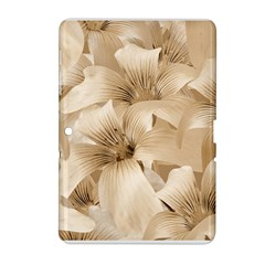 Elegant Floral Pattern In Light Beige Tones Samsung Galaxy Tab 2 (10 1 ) P5100 Hardshell Case