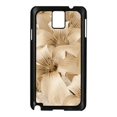 Elegant Floral Pattern in Light Beige Tones Samsung Galaxy Note 3 N9005 Case (Black)