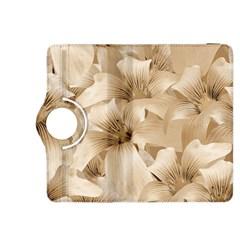 Elegant Floral Pattern in Light Beige Tones Kindle Fire HDX 8.9  Flip 360 Case