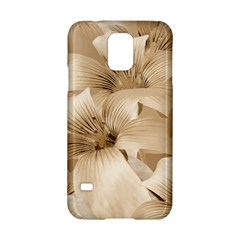 Elegant Floral Pattern in Light Beige Tones Samsung Galaxy S5 Hardshell Case