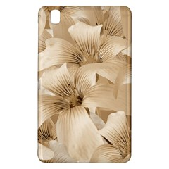 Elegant Floral Pattern in Light Beige Tones Samsung Galaxy Tab Pro 8.4 Hardshell Case
