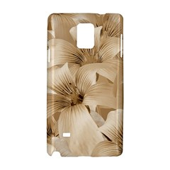 Elegant Floral Pattern in Light Beige Tones Samsung Galaxy Note 4 Hardshell Case