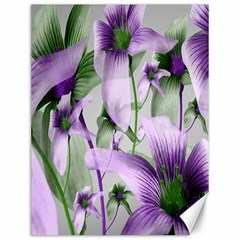Lilies Collage Art in Green and Violet Colors Canvas 12  x 16  (Unframed)
