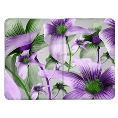 Lilies Collage Art in Green and Violet Colors Kindle Fire (1st Gen) Flip Case