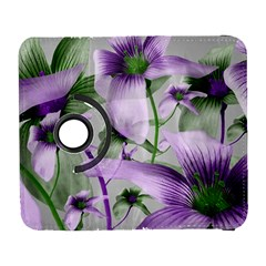 Lilies Collage Art In Green And Violet Colors Samsung Galaxy S  Iii Flip 360 Case