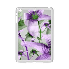 Lilies Collage Art In Green And Violet Colors Apple Ipad Mini 2 Case (white)