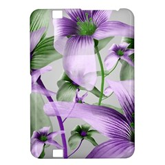 Lilies Collage Art in Green and Violet Colors Kindle Fire HD 8.9  Hardshell Case