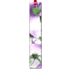 Lilies Collage Art In Green And Violet Colors Large Bookmark