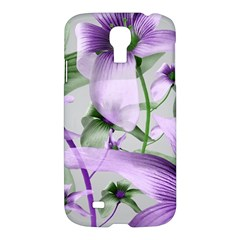 Lilies Collage Art In Green And Violet Colors Samsung Galaxy S4 I9500/i9505 Hardshell Case