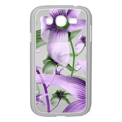 Lilies Collage Art In Green And Violet Colors Samsung Galaxy Grand Duos I9082 Case (white)